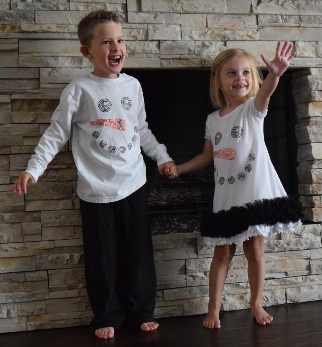 Snowman Shirt and Dress Holiday 2016